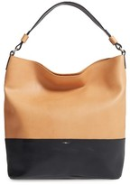 Shinola Colorblock Relaxed Leather Hobo Bag - Brown