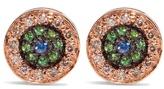 Ileana Makri Diamond, sapphire, tsavorite & pink-gold earrings