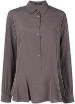 Steffen Schraut peplum button down blouse