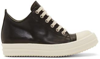 Rick Owens Black Low Sneakers