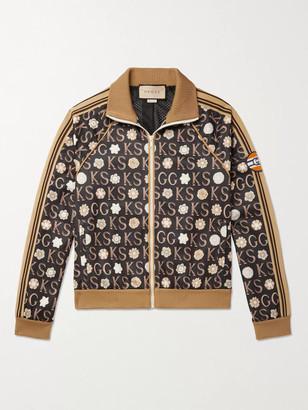 Gucci Ken Scott Striped Webbing-Trimmed Logo-Print Tech-Jersey Track Jacket - Men - Multi