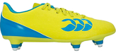 Canterbury of New Zealand Children's Speed 6 Stud Football Boots, Yellow/Blue