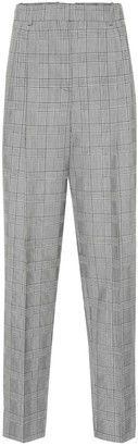 Givenchy Plaid high-rise straight wool pants