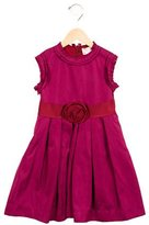 Lanvin Girls' Flower-Embellished Pleated Dress