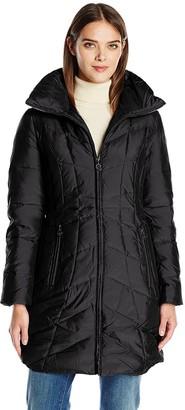 Anne Klein Women's Stand Collar Down Puffer Coat