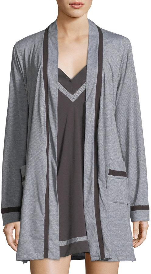 Cosabella Hustle Contrast-Trim Short Robe