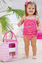 Mud Pie Pink Ruffle Swim Wear