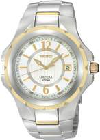 Seiko Men's SGEE68 Silver Stainless-Steel Quartz Watch with Dial