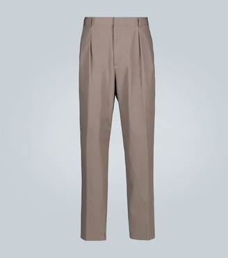 Valentino Cotton straight-leg pants