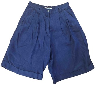 Non Signé / Unsigned Non Signe / Unsigned Blue Cloth Shorts for Women Vintage