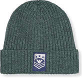 Armani Junior Turnup logo beanie hat