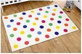 Kit for Kids Unisex Rug (Multi Colour, Polka Dot) by Kit For Kids