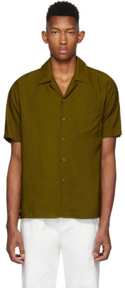 Ami Alexandre Mattiussi Brown Camp Collar Shirt