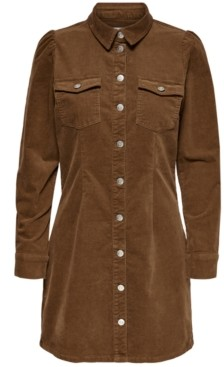 Only Corduroy Shirtdress