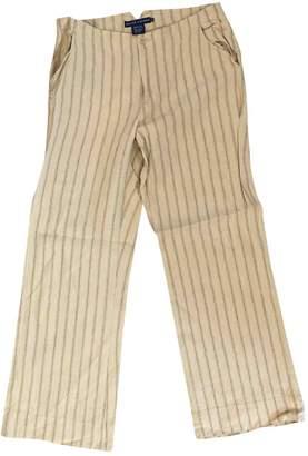 Ralph Lauren Beige Linen Trousers