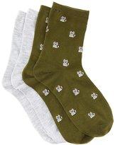 Charlotte Russe Cat Crew Socks - 2 Pack