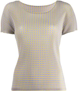 Pleats Please Issey Miyake check T-shirt