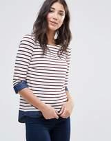 Vila Striped 3/4 Sleeve T-Shirt
