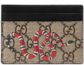 Gucci Snake print GG Supreme card case