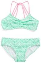 Gossip Girl Girl's 'Zig & Zag' Geo Print Two-Piece Swimsuit