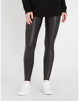Spanx Side-stripe faux-leather leggings