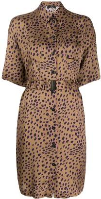 Paul Smith cheetah print shirt dress