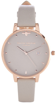 Olivia Burton Women's Mini Moulded Bee Grey Watch Rose Gold