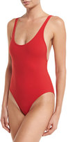 Karla Colletto Basics Round-Neck One-Piece Swimsuit