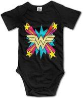 OKJYGESD Wonder Woman Shine Boys Girls Clothes Baby Onesie Jumpsuits Set
