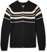 Gant Striped Ribbed Cotton Zip-Up Cardigan