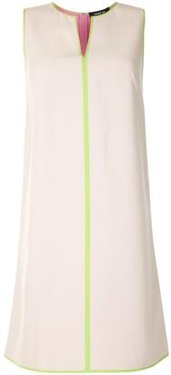 Paule Ka Contrast Piping Mini Dress