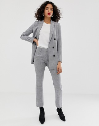 InWear Una kick flare check two-piece pants-Gray
