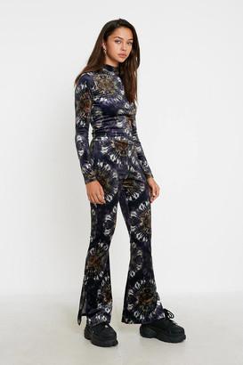 Urban Outfitters Tie-Dye Velvet Flare Pant