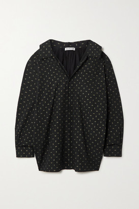 Balenciaga Oversized Printed Cotton-poplin Shirt - Black