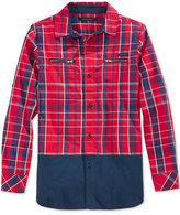 Sean John Little Boys' Long-Sleeve Woven Plaid Shirt