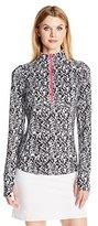 Cutter & Buck Women's Moisture Wicking, Upf 50+, Long-Sleeve Izaria Print Half Zip Pullover