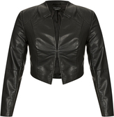 City Chic Sleek Pleather Bolero Jacket