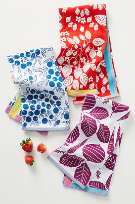 Anthropologie Fruit Dish Towels, Set of 3 By in Assorted Size SET OF 3