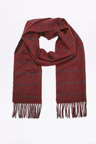 Urban Outfitters Burgundy Window Check Scarf
