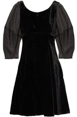 Paper London Bay Velvet And Organza Mini Dress
