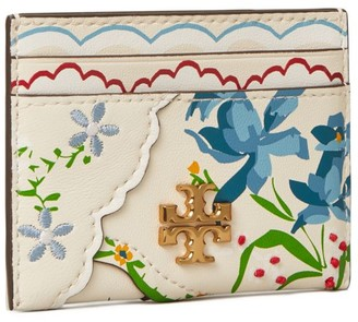 Tory Burch Kira Mixed-Floral Card Case