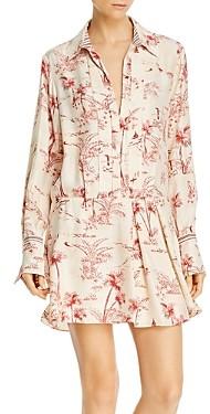 Frame Silk Printed Mini Dress