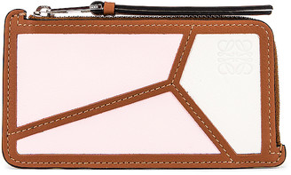Loewe Puzzle Coin Cardholder in Icy Pink & Soft White   FWRD