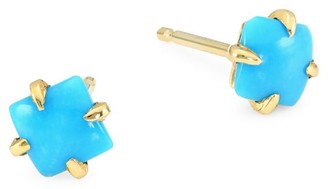 Ila Primary Princess 14K Yellow Gold Turquoise Earrings
