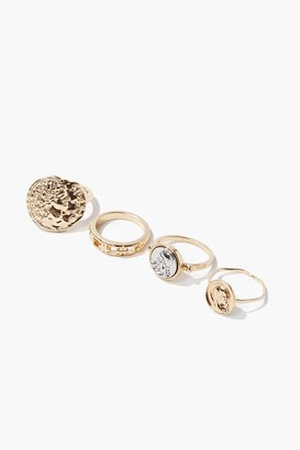 Forever 21 Hammered Coin Ring Set