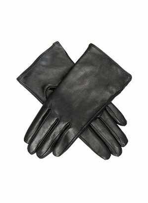 Dents Amanda Women's Leather Glove with 3 Points BLACK S