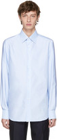 Brioni Blue Slim-Fit Dress Shirt