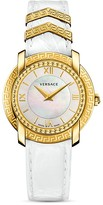 Versace DV25 Watch with Mother-of-Pearl and Leather Strap, 36mm