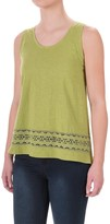 Specially made Crochet-Trim Flyaway Shirt - Sleeveless (For Women)
