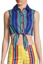 Moschino Sleeveless Tie Front Top